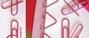 Hjerteformede papirklips
